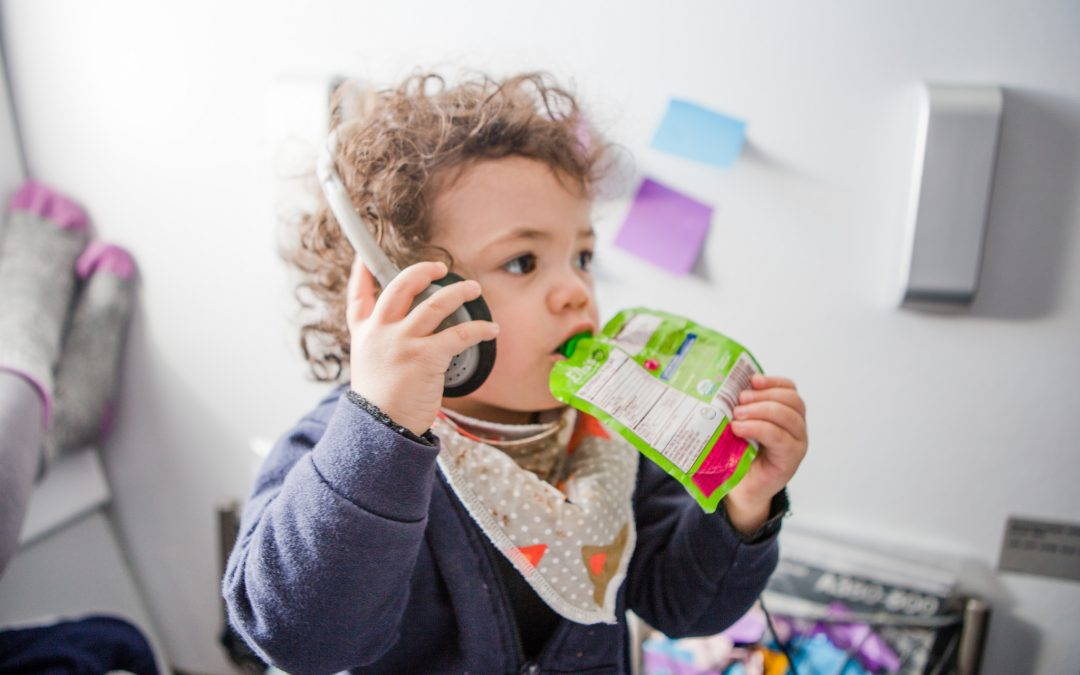 Keep your toddler entertained on the plane with items you probably already own.