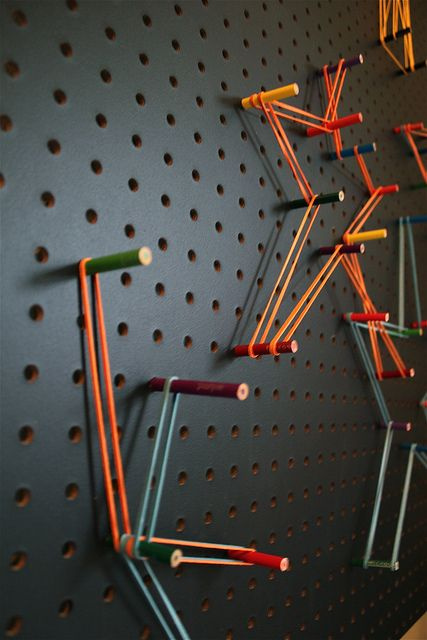 pegboard interactive art