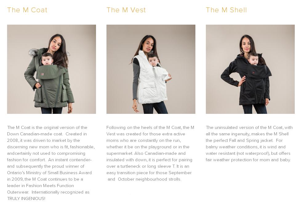 M Coat versions